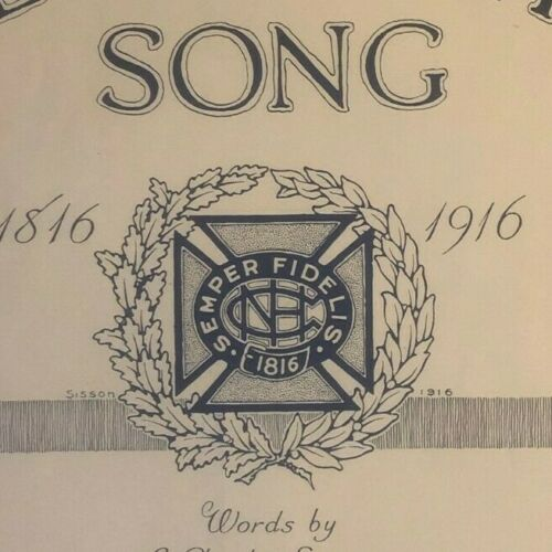 """Vintage WWI Sheet Music """"The Grays Centennial Song"""" 1816-1916"""