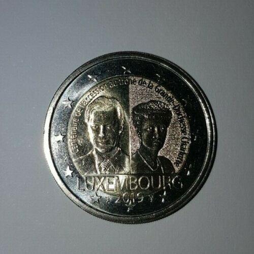 SOFORT   2 Euro Sondermünze Luxemburg 2019 100. J. Thronbesteigung von Charlotte