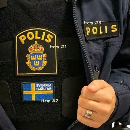 SVERIGE SWEDEN SWEDISH POLISEN POLIS PIKETEN PIKETENHETEN瑞典警察 velkrö 3-PATCH SET