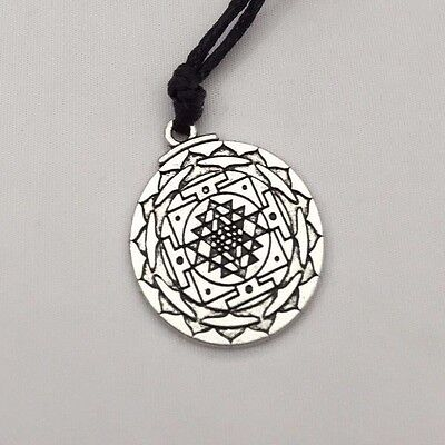 Sri Yantra Pendant Prosperity Mandala Talisman Wealth & Good Luck Necklace