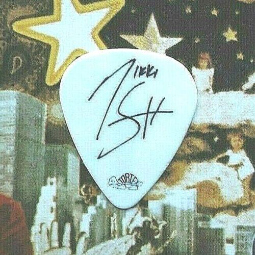 MOTLEY CRUE Nikki Sixx Saints of L.A. Tour guitar pick - NEW!