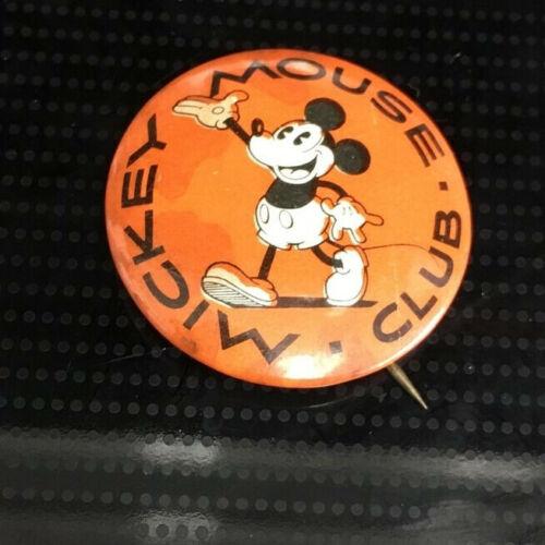 RARE 1930s Walt Disney Enterprises Mickey Mouse Club Button-Kay Kamen