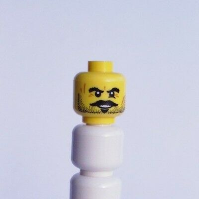 LEGO PART YELLOW HEAD BANDIT COWBOY MUSTACHE STUBBLE 100% LEGO](Mustache Part)