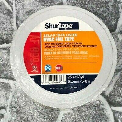 Shurtape Af-099 Aluminum Hvac Foil Tape 2.5 X 60 Yd Flex Air Duct Ductboard New