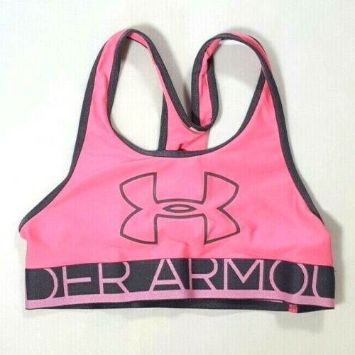 UNDER ARMOUR Youth Girls Pink Racerback Sports Bra Size SMALL