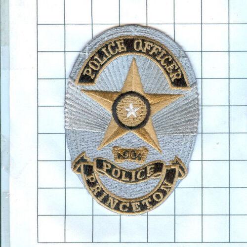 Police Patch - Princeton Police Officer