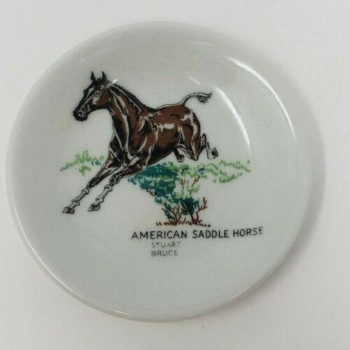 "American Saddle Horse Stuart Bruce Trinket Dish 3 1/4"""