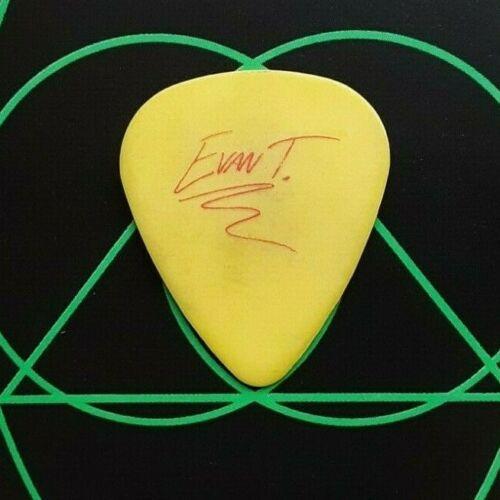 AVRIL LAVIGNE Evan Taubenfeld yellow guitar pick - different version