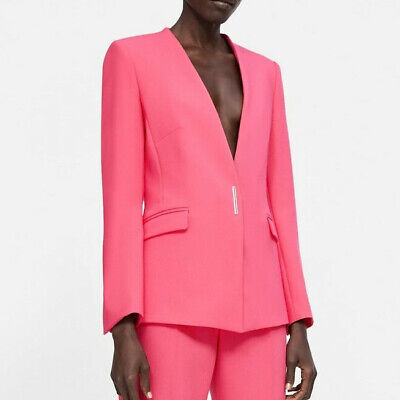 NEW ZARA SS19 FUCHSIA BLAZER WITH POCKETS REF 2125/691 SIZE S BLAZER...