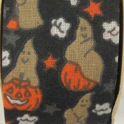 Halloween Jack-o'-lantern Ghost WFR Ribbon Fabric Craft Scrapbook 12 feet 3.5 - Halloween Lantern Craft