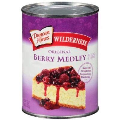 - 3 PACK Duncan Hines Berry Medley Pie Filling Strawberries Raspberries Blue..