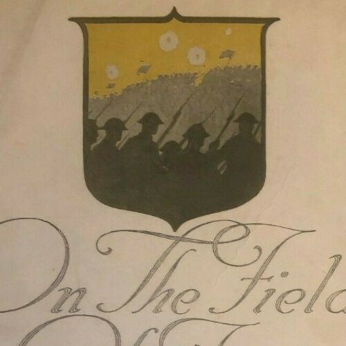 """Vintage WWI Sheet Music """"On the Field of France - A Toast"""""""