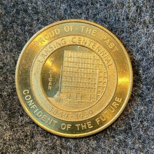 1959 LANSING MICHIGAN CENTENNIAL YEAR SOUVENIR MONEY - Good for 50 cents