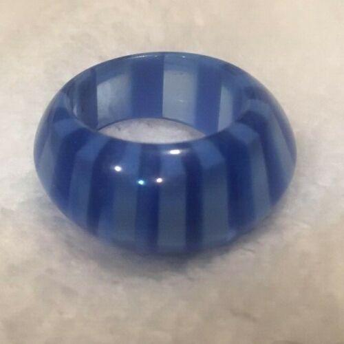 Lucite Ocean Blues Semi Translucent Ring Size 6