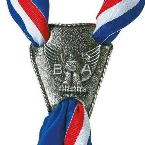Boy Scouts Eagle Logo 3 Hole Neckerchief Slide Official BSA in Presentation Box