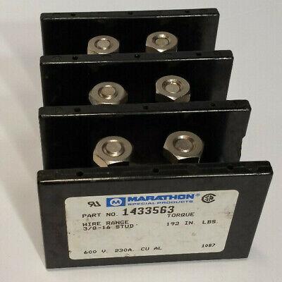 Marathon Special Prod. 1433563 3 Pole Power Distribution Block 600 Volt 230 Amp