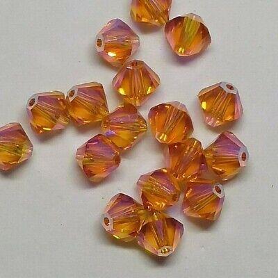 Swarovski Crystal Limited Edition Tangerine Shimmer 2X Bicones; 4mm/ 6mm ()