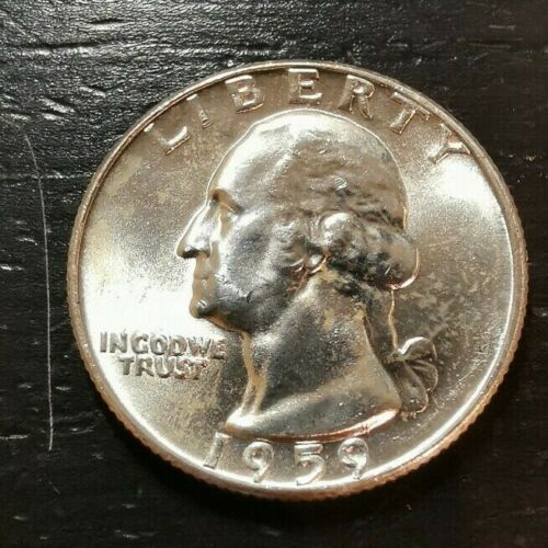 1959 WASHINGTON QUARTER BU - UNC 90% Silver