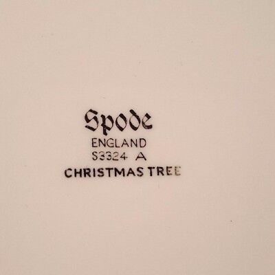 """SPODE Christmas Tree 10.75"""" DINNER PLATES • England • As Is Condition !"""