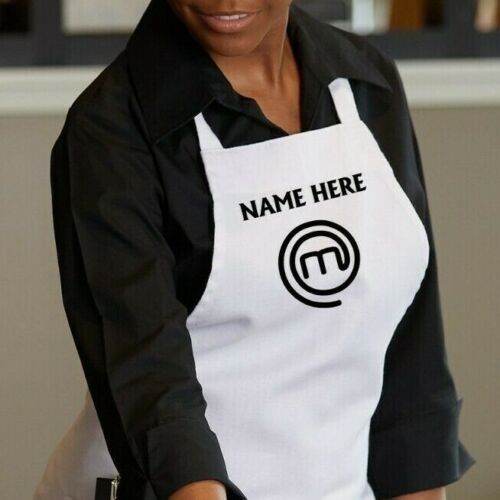 Custom name Cook Master Chef Apron Adults Unisex White/Black/Red/Navy/Green
