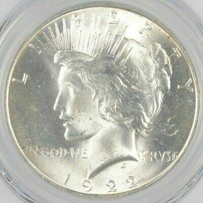 Uncirculated 1922 Peace Silver Dollar 90% BU Single - Philadelphia-  Stunning