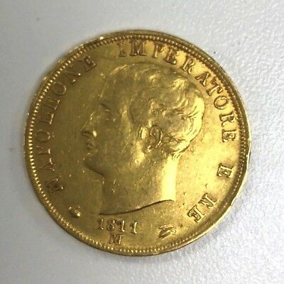 40 Francs Napoleon Gold Coin (Varied Year)