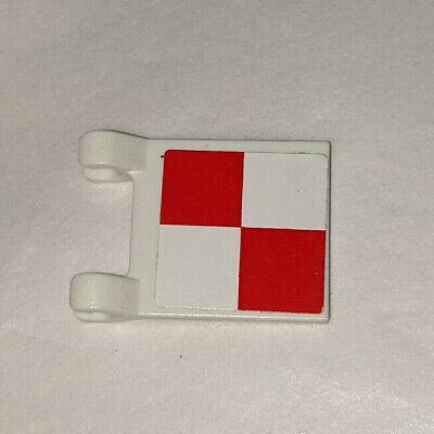 LEGO 2x2 SPONGEBOB SQUAREPANTS KRUSTY KRAB FLAG RED & WHITE CHECKERED STICKER