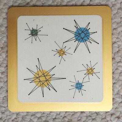 Franciscan Starburst Mid Century Atomic Retro Design Coasters