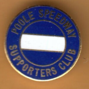 POOLE  PIRATES   GOLD   SPEEDWAY   BADGE