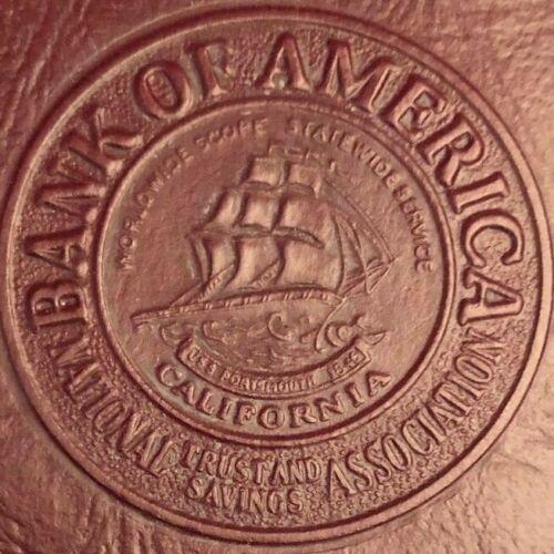 Vintage 1953 Bank of America Savings Passbook w/ Sleeve - Clovis, CA Branch
