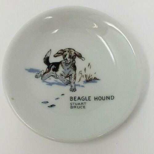 "Beagle Hound Stuart Bruce Trinket Dish 3 1/4"""