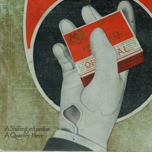 1916 Print Ad Pall Mall cigarettes full color