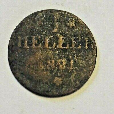 1 Heller 1821 , KM# 301 Germany Deustchland