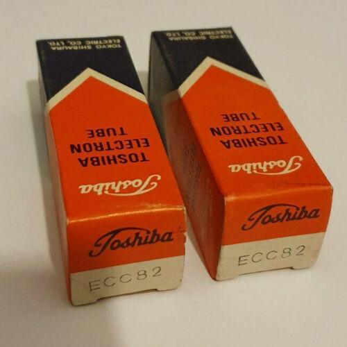 pair of ecc82 / 12au7 japan toshiba tubes