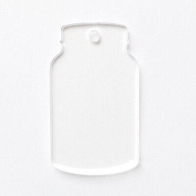 Acrylic keychain Blanks Laser cut Mason Jar Pack 10-100. Vinyl. Chose Size