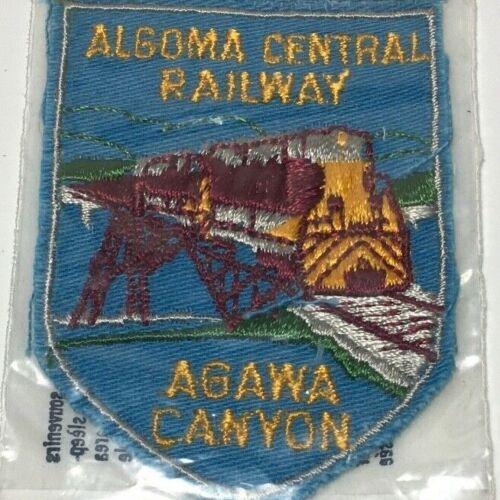 Vtg Voyageur Algoma Central Railway Agawa Canyon Canada Patch Railroad Train NOS