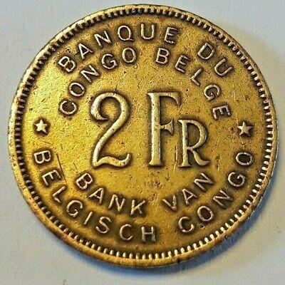 2 Francs 1947 Congo Belge Belgisch Congo Belgïe Belge 2 Frank KM# 28