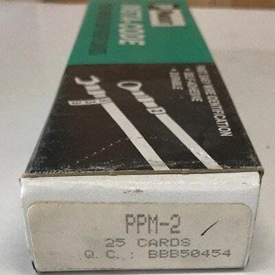 25 Pack Of Panduit Ppm-2 Insta-code Wire Marker Dispenser Cards 2 Free Us Ship