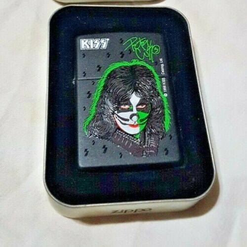 KISS PETER CRISS ZIPPO LIGHTER NEW IN BOX 1998