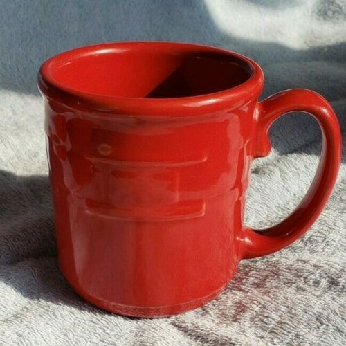 Longaberger Pottery Woven Traditions Mug - Tomato - Gently Used - 6 available