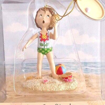 Mary Engelbreit-SHE SELLS SEASHELLS Beach Hand-Sculpted Resin Ornament--NEW!
