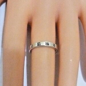 NEW LADIES PAST TIMES SOLID 925 STERLING SILVER MARCASITE BAND WEDDING RING M