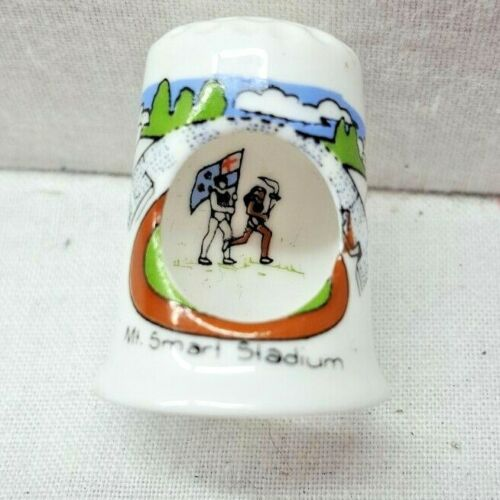 Collectible Thimble New Zealand Auckland Commonwealth games vintage unique