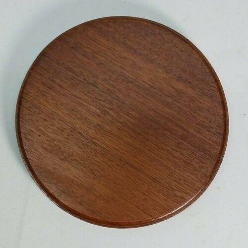 Mahogany Finish Round Wood Display Plaque.  Display Base.  Display Stand.