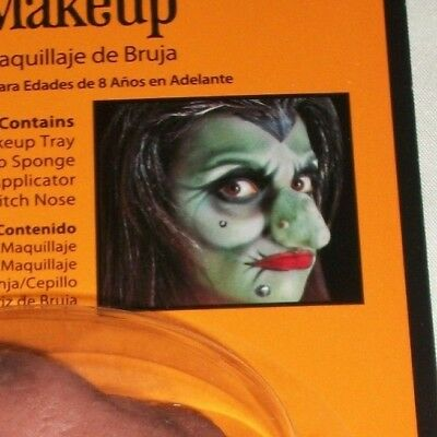 Halloween Witch Makeup Kit Costume Theater Stage Face Painting Nose Wart Goul