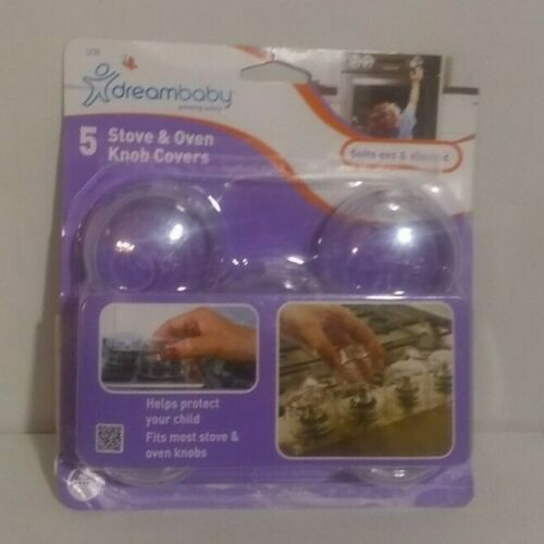 DREAMBABY CLEAR VIEW STOVE KNOB COVERS 5 PACK B38