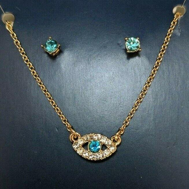 Rachel Roy Benevolent Eye Earring And Necklace Set  - $9.99