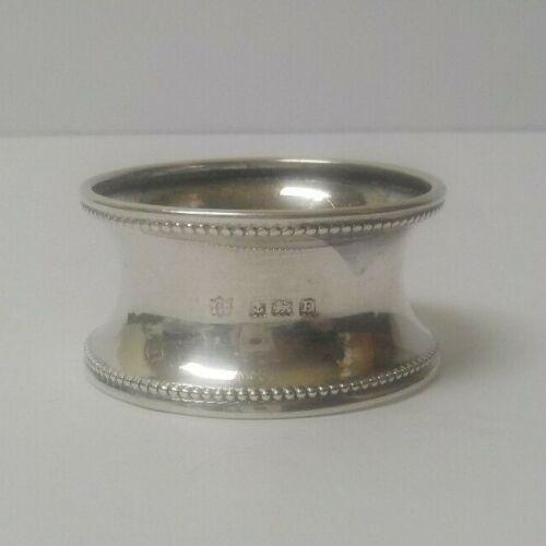 English Sterling Silver Napkin Ring, c. 1926, 10 grams