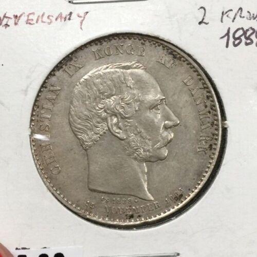 25TH ANNIVERSARY 1888 DANISH 2 KRONNER