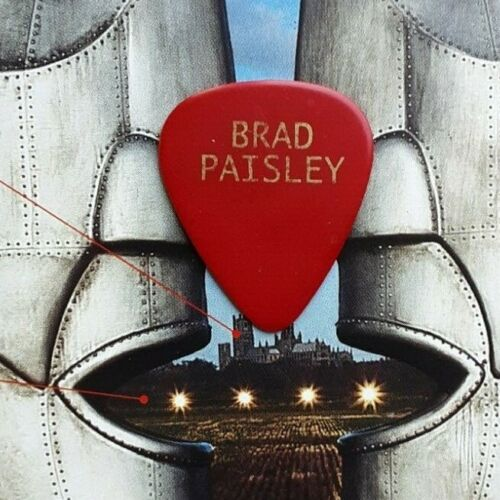 BRAD PAISLEY red guitar pick - NEW!